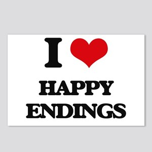 I love Happy Endings Postcards (Package of 8)